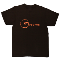 yygrec Logo T-shirts Black×Orange