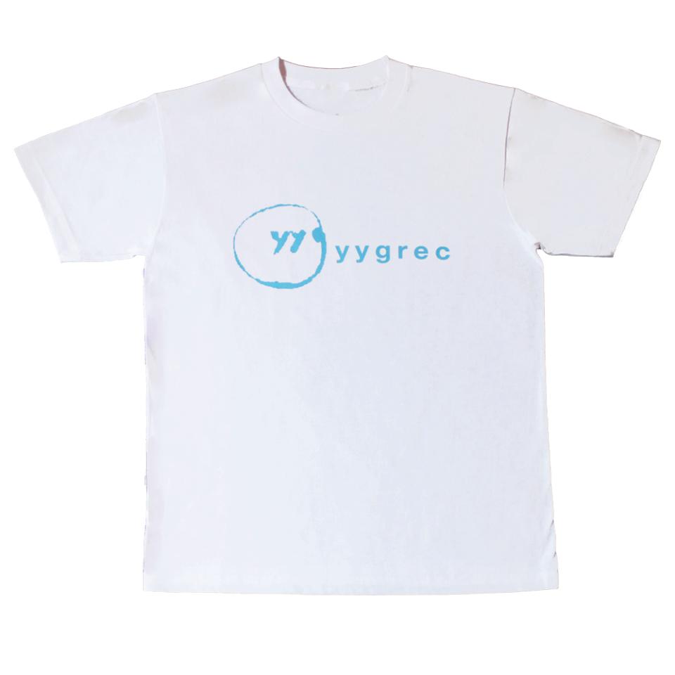 yygrec Logo T-shirts White×Sky Blue